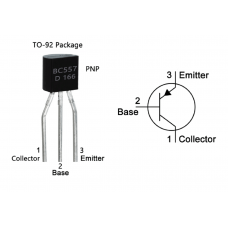 BC557 PNP Transistor TO-92 Package
