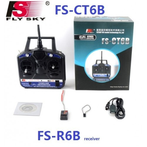 FlySky FS-CT6B 6 channel 2 4 GHz Transmitter and Receiver